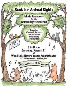 Rock for Animal Rights poster