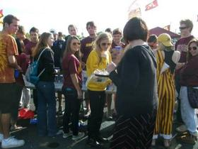 Photo of Gopher football vegan food sampling