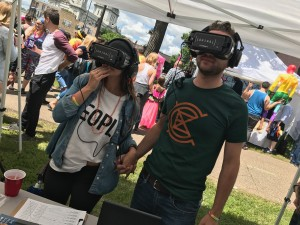 Pride - couple doing VR