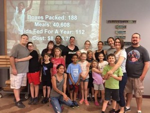 VegKins_Feed My Starving Children_packing plant based food for Haiti